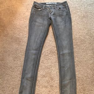 Grey washed jeans